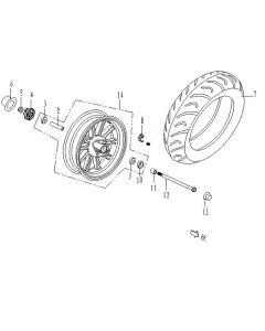 Sinnis Phoenix 50 (C04) Front Wheel