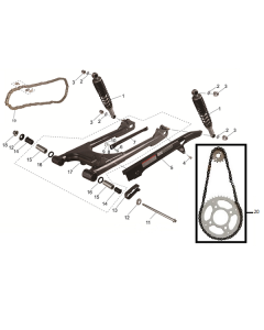 SC125 (08) Swingarm/Shocks