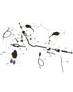 RS125 (08) Handle Bar/Switches/Front Brake