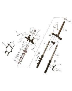 RS125 (09) Forks/Steering Stem
