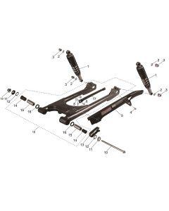 ST125 (09) Swing Arm/Shocks