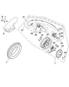 Sinnis Phoenix 50 (C10) Rear Wheel