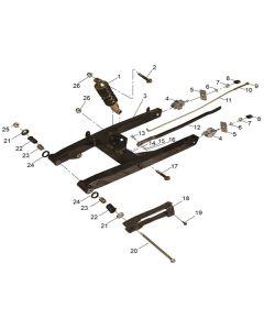 RS125 (11) Swing Arm/Shocks
