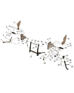 RS125 (12) Centre Stand/Foot Peg
