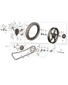 ST125 (14) Rear Wheel