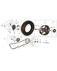 RS125 (16) Rear Wheel