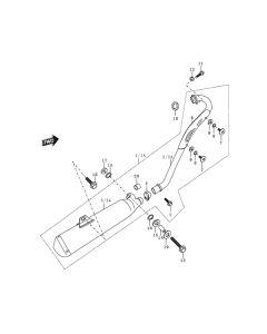 Sinnis Blade 125 (Non-EFI) (C11) Exhaust