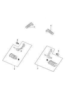Sinnis Scrambler 125 (C12) Footpegs