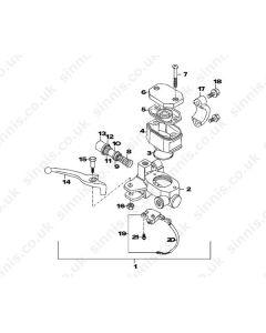 Max 2 125 (C14) Front Brake Master Cylinder