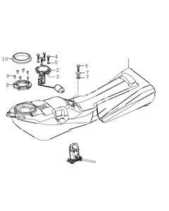 Sinnis Apache SMR 125 (EFI) (C15) Fuel Tank