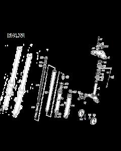 Retrostar 125 (C21) Fork/Steering Stem