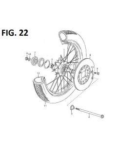 Trackstar 125 (C22) Front Wheel