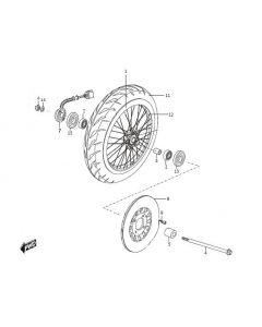 Sinnis Bomber 125 (C22) Front Wheel