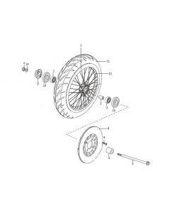 Sinnis Scrambler 125 (C22) Front Wheel