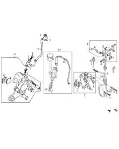 Sinnis Scrambler 125 (C23) Brakes
