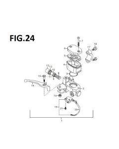 Retrostar 125 (C24) Front Brake Master Cylinder