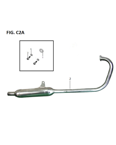 Retrostar 125 (C02) Exhaust