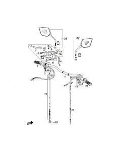 Sinnis Blade X 125 (EFI) (C04) Handlebars