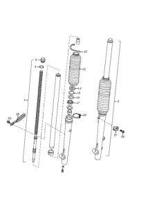 Sinnis Blade 125 (Non-EFI) (C08) Front Forks