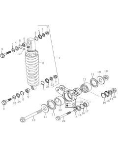 Sinnis Apache SM 125 (EFI) (C09) Rear Shock