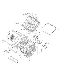 GV125 (E01-2) Cylinder Head Front