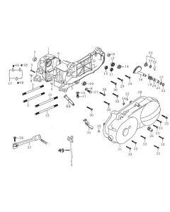 139QMB-E (E1) Crankcase