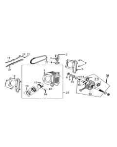 GY6A-E (E02) Cylinder/Crankshaft