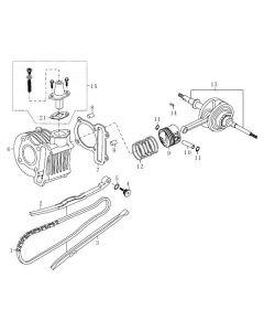 139QMB (E03) Cylinder/Crank Shaft