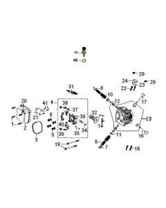 GY6A-E (E03) Cylinder Head