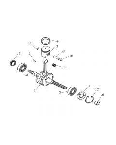 1PE40QMB (E04) Crankshaft