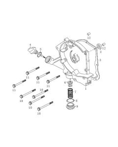 139QMB (E04) Right Crankcase Cover