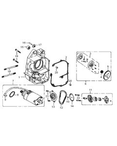 GY6A-E (E04) Right Crank Cas/Starter Motor