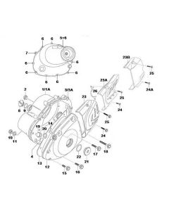 K157FMI (E04) Crank Case Cover
