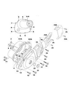 K157FMI-E (E04) Crank Case Cover