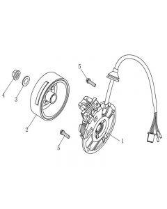 1PE40QMB (E05) Flywheel