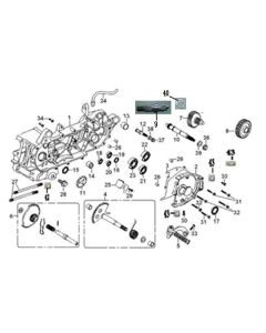 GY6A-E (E05) Left Crank Case/Transmission
