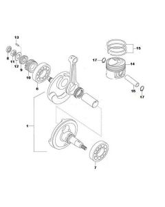 K157FMI (E05) Crankshaft