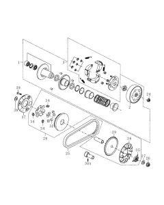 139QMB-E (E6) Pulleys/Drive Belt