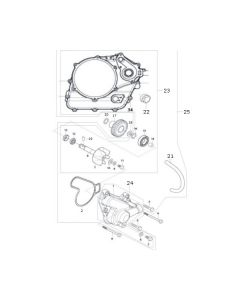 GV125 (E06) Water Pump