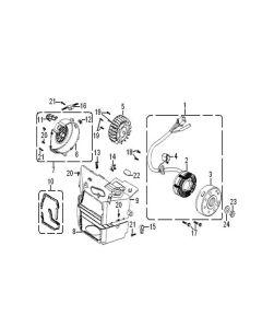 GY6A-E (E08) Stator