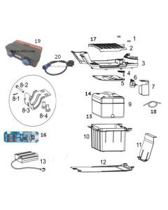NIU NQI GTS (F10) Battery/Floor Board