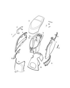 NIU NQI GT (F13) Rear Panels/Seat