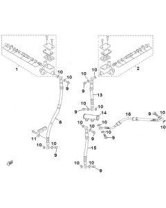 Sinnis Hero 125 (F13) Brake Master Cylinders/Brake Hoses