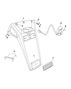 Sinnis Matrix 3I (F14) Rear Fender