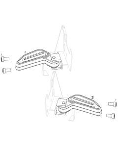 NIU NQI GTS (F15) Passenger Footpegs