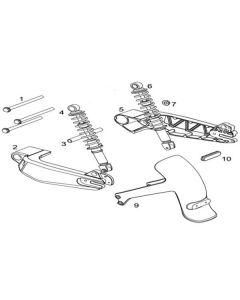 NIU NQI GT (F17) Rear Shocks/Swingarm