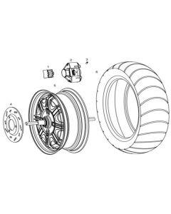 NIU NQI GTS (F18) Rear Wheel