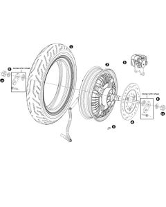NIU MQI+ (F19) Rear Wheel