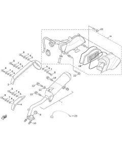 Sinnis Hero 125 (F1) Exhaust/Air Box