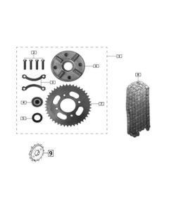 Sinnis Akuma 125 (Z22) Sprocket Carrier